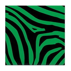 Green Zebra Tile Coaster