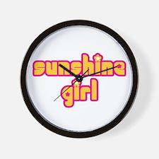 Sunshine Girl Wall Clock