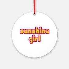 Sunshine Girl Ornament (Round)