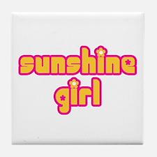 Sunshine Girl Tile Coaster