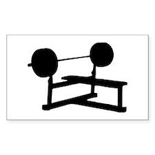 Weightlifting Rectangle Sticker 50 pk)