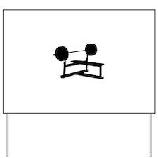 Weightlifting Yard Sign