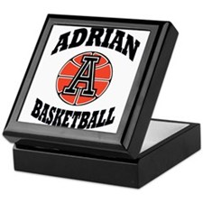 adrian maple basketball Keepsake Box