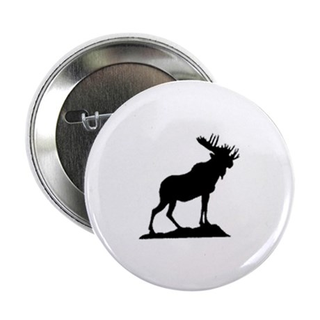 "standing moose 2.25"" Button (100 pack)"