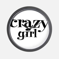 Crazy Girl Wall Clock
