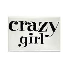 Crazy Girl Rectangle Magnet