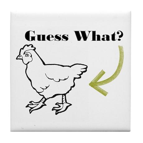Chicken Butt Tile Coaster