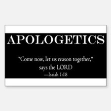 Christian Apologetics Sticker (Rectangle)