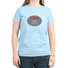 Triplet Mama Hearts T-Shirt