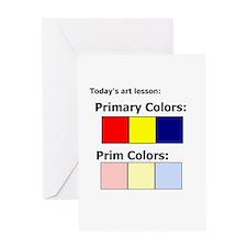 Prim Colors Greeting Card