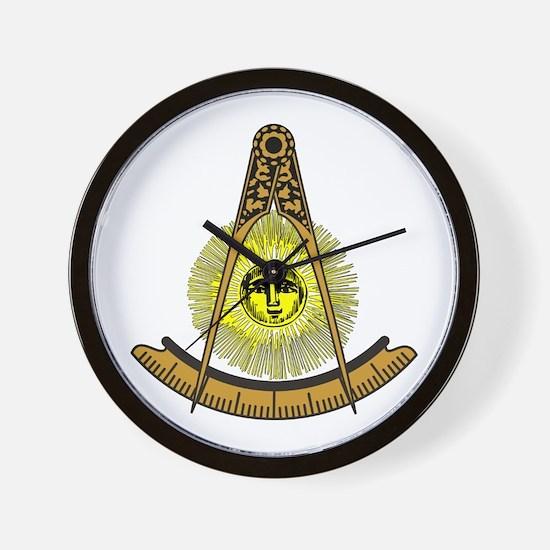 Freemason Past Master Wall Clock