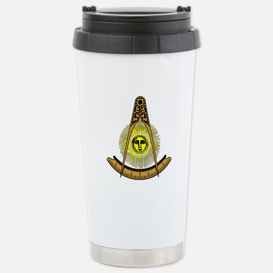 Freemason Past Master Stainless Steel Travel Mug