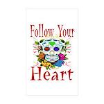 Follow Your Heart Rectangle Sticker 10 pk)