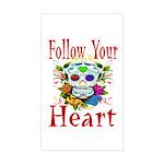 Follow Your Heart Rectangle Sticker