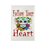 Follow Your Heart Rectangle Magnet (10 pack)