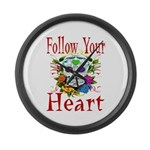 Follow Your Heart Large Wall Clock
