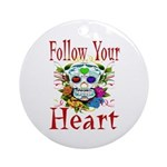 Follow Your Heart Ornament (Round)