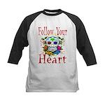 Follow Your Heart Kids Baseball Jersey
