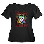 Follow Your Heart Women's Plus Size Scoop Neck Dar