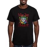 Follow Your Heart Men's Fitted T-Shirt (dark)