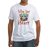 Follow Your Heart Fitted T-Shirt