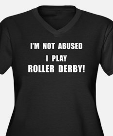 Not Abused Roller Derby Women's Plus Size V-Neck D