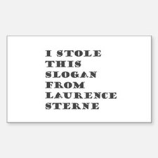Sterne Slogan Rectangle Decal