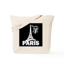 """""""France/Paris/Tower/Humor"""" Tote Bag"""