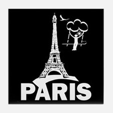 """France/Paris/Tower/Humor"" Tile Coaster"