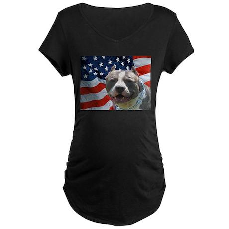 American Pit Bull Maternity Dark T-Shirt