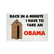 OBAMA IS FULL OF IT ! Rectangle Magnet