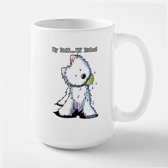 My Ball...MY Rules! Large Mug