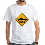 Race Car X-ing White T-Shirt