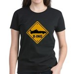 Race Car X-ing Women's Dark T-Shirt