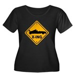 Race Car X-ing Women's Plus Size Scoop Neck Dark T