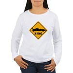 Race Car X-ing Women's Long Sleeve T-Shirt