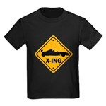 Race Car X-ing Kids Dark T-Shirt