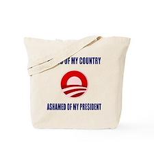 Ashamed Of Obama Tote Bag