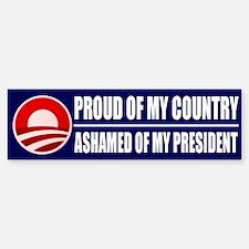 Ashamed Of Obama Bumper Bumper Bumper Sticker