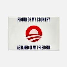 Ashamed Of Obama Rectangle Magnet
