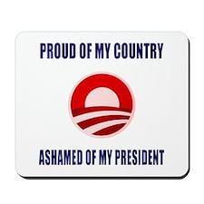 Ashamed Of Obama Mousepad