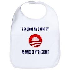 Ashamed Of Obama Bib