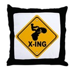 ATV X-ing Throw Pillow
