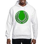 Green with Silver Laurel Hooded Sweatshirt