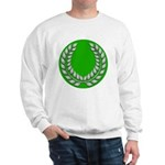 Green with Silver Laurel Sweatshirt