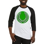 Green with Silver Laurel Baseball Jersey