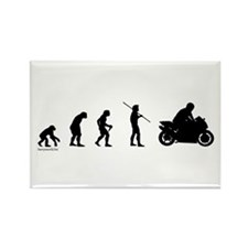 Motorcycle Evolution Rectangle Magnet (10 pack)