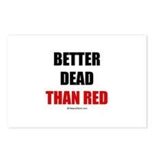 Better dead than red -  Postcards (Package of 8)