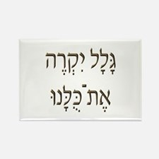 Sh*t Happens (Hebrew) Rectangle Magnet