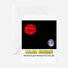 Solar Energy: Free Delivery Greeting Card